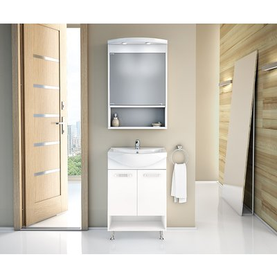 Napoli møbelpakke 55 hvit med speilskap