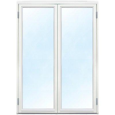 Doble glassdører - helglassert 3-lags glass - tre - U-verdi: 1,1