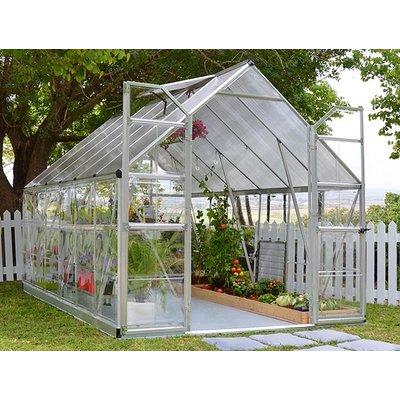 Balance drivhus, grå - 8,8 m²