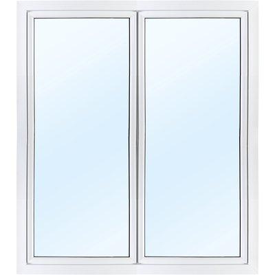 Dobbel balkongdør PVC 2-lags - Utoverslående