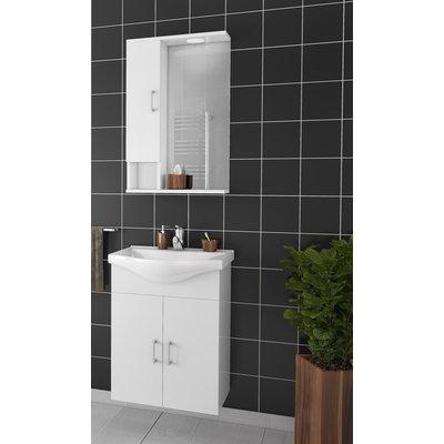 Møbelpakke Alba 55 Hvit med speilskap