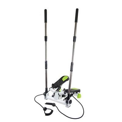 Stepmaskin - Med treningsbånd og treningdatamaskin (svart-grønn S3096)