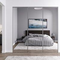 Venedig skyvedør for garderobeskap - 3 Dører - speil