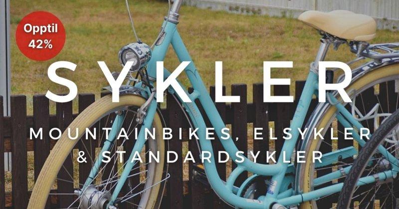 Sykler - Opptil 42%