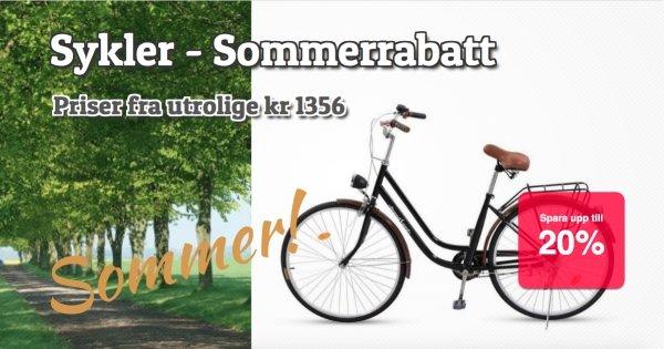 Sommerrabatt på sykler 20 %!