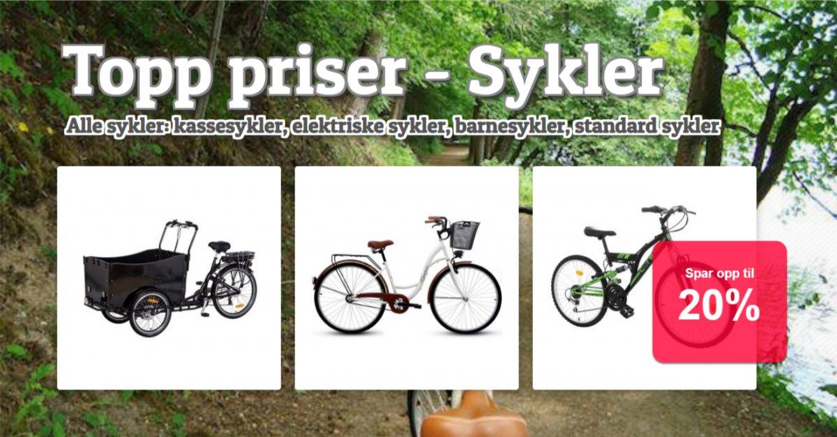 Topp priser - Sykler!