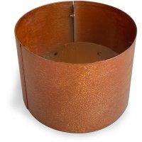 Corten stålpotter rund - H50 x Ø50 cm