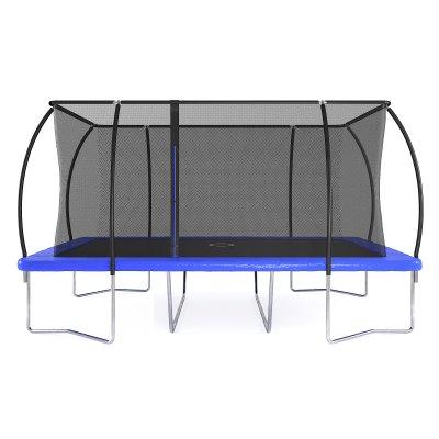 Firkantet trampoline med sikkerhetsnett