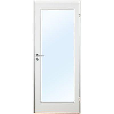 Litlesotra innerdør - Slätt & kompakt dörrblad med stort glasparti G01