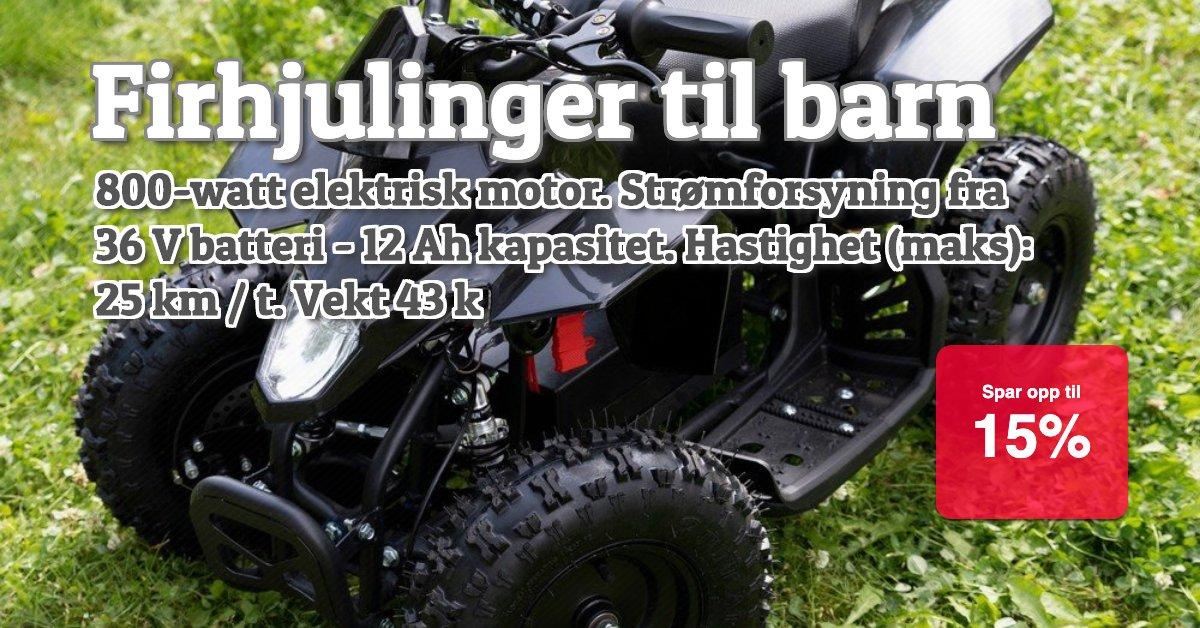 SALG - Mini firhjulinger 15%