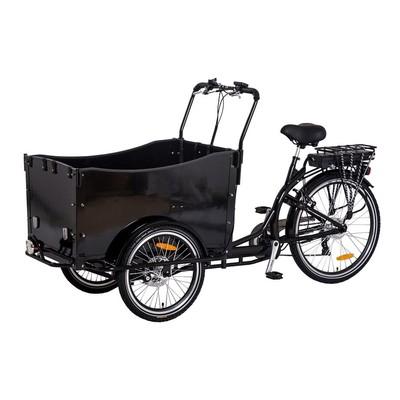 Lastesykkel med sort kasse - 250W