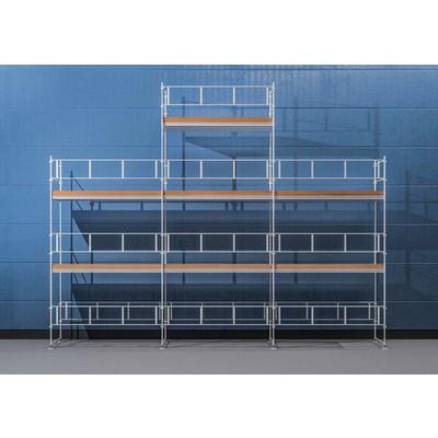 Stillas HAKI Ramme 9x6 m + gavltopp - Aluminium