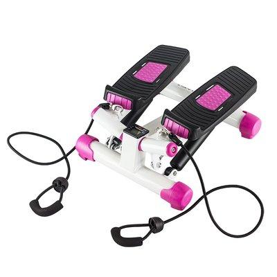 Stepmaskin - Med treningsbånd & treningscomputer (sort-rosa S3033)