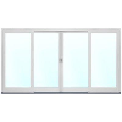 4-delt fasadeparti i tre med skyvedører - 3-lags glass