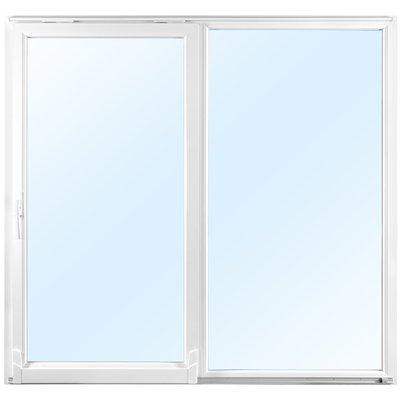 2-delt skyvedør i 3-lags glass - Helglassert - PVC - U-verdi 0,96