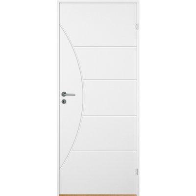 Bornholm innerdør - Kompakt dörrblad med spårfräst dekor A9