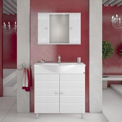 Møbelpakke Capri 80 Hvit med speilskap