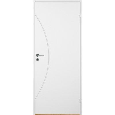 Bornholm inngangsdør - Kompakt dörrblad med spårfräst dekor A7