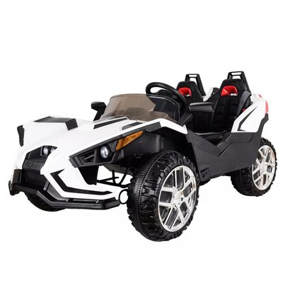 Terreng elektrisk bil, for barn - hvit