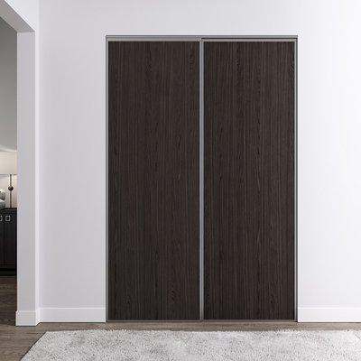 Venedig skyvedør for garderobeskap - 2 Dører - Panel - Valgfri farge