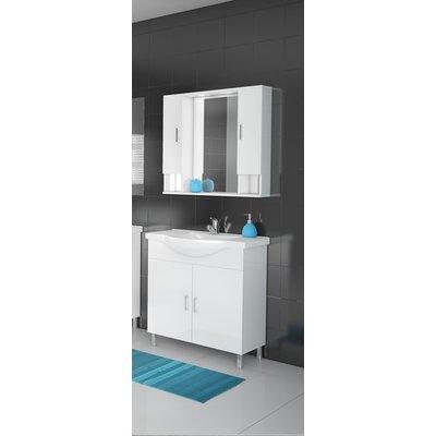 Møbelpakke Alba 80 Hvit med speilskap (2 skap)